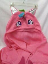 Child's Unicorn Snuggie Wearable Hooded Blanket 100% Polyester Fleece Pink NEW