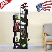 8 Shelf Tree Bookshelf Bookcase Book Rack Display Storage Organizer Shelves USA