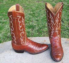 TONY LAMA   EXOTIC  LIZARD  COWBOY  BOOTS  MEN'S  8.5'D