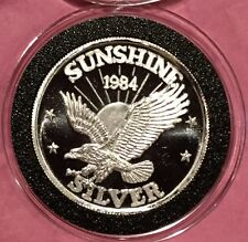 1984 Sunshine Mining Collectible Coin 1/2 Troy Oz .999 Fine Silver Round Medal