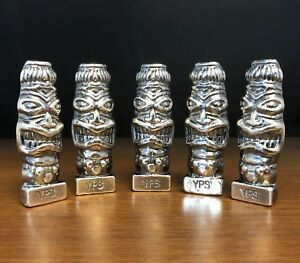 "100 gram 999 Silver Bullion ""Tiki"" by YPS Yeager's Poured Silver"