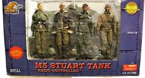 The Ultimate Soldier 1:6 WWII M5 Stuart Tank With 4 Crew Radio Controlled OB