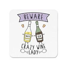 Ten cuidado con Vino Loco Dama FRIDGE MAGNET-Divertido Broma borracho