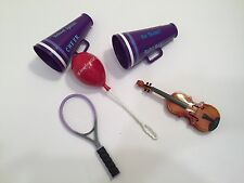American Girl Doll Lot of 5 Accessories Megaphones Balloon Tennis Racket Violin
