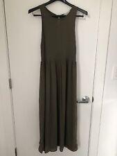 98af9a1e90 NWOT Ann Taylor LOFT Olive Green Maxi Dress XSP extra small rayon crew neck