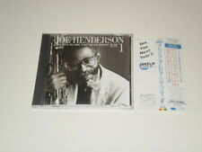 JOE HENDERSON -THE STATE OF THE TENOR - JAPAN CD 1987  blue note  W/OBI - EX/EX-