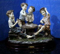 Very Rare Vintage Juliana Collection playing cards boys figurine
