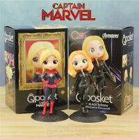 NEW 2019 Captain Marvel Movie Black Widow 15cm Cute Action Figure Vinly Doll