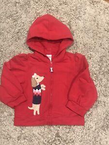 Gymboree New York Girl Puppy School Dog Red Hoodie Size 3T