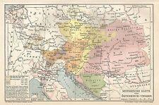 B0332 Austro-Hungarian Empire - Carta geografica d'epoca - 1903 Vintage map
