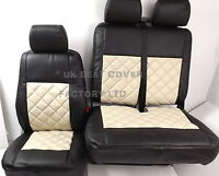 VW TRANSPORTER T5  T26 T28 T30 VAN SEAT COVER CREAM BENTLEY A150CMBK