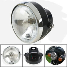 Round Motorcycle Headlight Universal for Harley Davidson Honda Kawasaki Headlamp