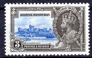 British Honduras 3c Silver Jubilee KGV SG 143 1935 [mmint [G302021]