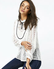 NWT MONSOON ACCESSORIZE LOTTIE LAURA LACE BLOUSE WHITE VICTORIANA TOP 12 8 40