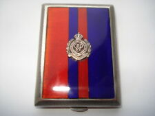 1930 QUALITY ROYAL ENGINEERS SILVER&GUILLOCHE ENAMEL BOOKMATCH CASE