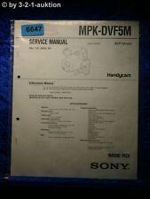 Sony Service Manual MPK DVF5M Marine Pack (#6647)