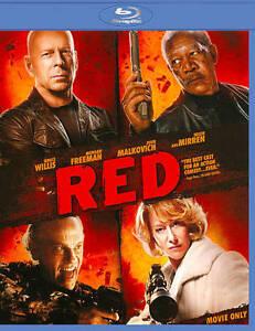 Red (Blu-ray Disc, 2011) Willis, Freeman, Malkovich, Mirren