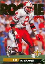 1995 Skybox Impact #196 Lee DeRamus Rookie Football Card