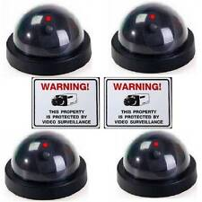 FAKE DUMMY SECURITY DOME VIDEO CAMERAS+LEDS LOT NEW