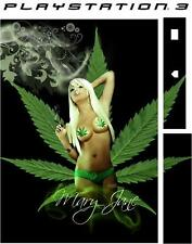 Playstation 3 SEXY GIRL cannabis Peau Vinyle Sticker Autocollant PS3