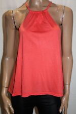 SUPRE Brand Orange Strappy Round Neck Gathered Top Size XS BNWT #TP99