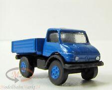 IMU 12042 Mercedes Unimog mit Pritsche offen blau Metall Spur N 1:160 OVP