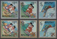 Bhutan 1967 ** Mi.143/48 A Pfadfinder Scouts Scouting [st0398]