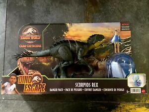 JURASSIC WORLD Camp Cretaceous: Dino Escape Danger Pack Scorpios Rex W/ Kenji
