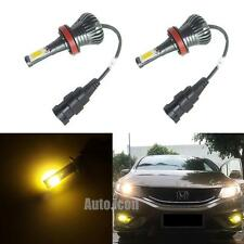 2pcs Golden Yellow H11 H8 JP-H16 COB LED Fog Lights Bulbs w/ Strobe Function