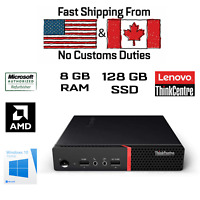 Lenov ThinkCentre M715q Tiny, AMD PRO A6-8570E R5, 8GB, 128GB, HDMI, WiFi, Win10