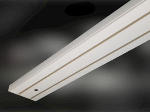Gardinenschiene Kunststoff  2-lfg. mit Holzkern für mehr Stabilität 88 cm Breite