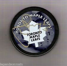 Jamal Mayers Toronto Maple Leafs Signed Logo Puck Comes with COA
