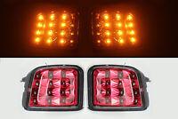 JDM LED Front Indicator Turn Signal Lights For 15-18 SUBARU WRX STI - Cherry Red