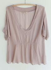 Fleur Wood dusty pink silk top size 3 (12-14)