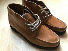 Sebago Tatanka Leather Brown Tan Boots Men Lace-Up Shoes UK 8.5 EUR 43 New