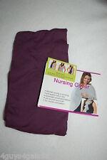 Breastfeeding DARK PLUM PURPLE NURSING COVER SCARF Slips Over Neck BREATHABLE