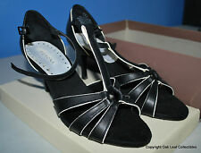 Merona Black High Heel Classic Pumps Open Toe Strap Size 7 NEW n Box Never Worn!