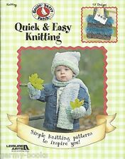 Quick & Easy Knitting Gooseberry Patch Patterns Book Coat Hat Sock Scarf LA 3670