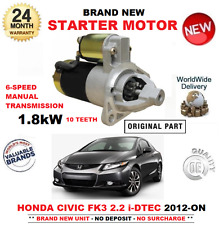 FOR HONDA CIVIC 2.2 iDTEC STARTER MOTOR 2012-ON BRAND NEW 10 TEETH 1.8kW FK3