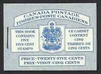 Canada BK48a: 1954 Commemorative 5c Blue Beaver - Pane 336a, Stapled Booklet, VF