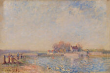 Saint Mammès–Loing Canal by Alfred Sisley 60cm x 40cm Art Paper Print