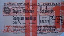 TICKET BL 1977/78 FC Bayern München - Schalke 04