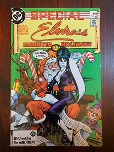 ELVIRA'S HOUSE OF MYSTERY Haunted Holidays Special #1 1987 Stunning NM 9.4 copy