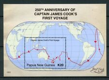 Papua New Guinea 2018 MNH Capt James Cook 1st Voyage 1v S/S Boats Ships Stamps