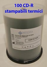 100 CD-R Stampabili termici Med33 700MB 80min 52X Printable campana spindle