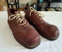 Mikekonos Brown Leather boot like Men's Size 12 M