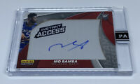 2018 19 MO BAMBA INSTANT ON PATCH BLUE AUTO AUTOGRAPH ROOKIE RC #8/10
