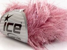 38Yd Petal Pink Extra Long Eyelash Yarn #42076 Ice Bulky Luxurious Longer Lashes