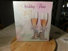 1997 Dreamsicles Bridal Collection wedding flutes. Beautiful pair