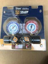 Yellow Jacket 49983 Mechanical Manifold Gauge Set,4-Valve